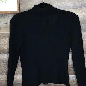 St. John Crew Neck Sweater with Zipper